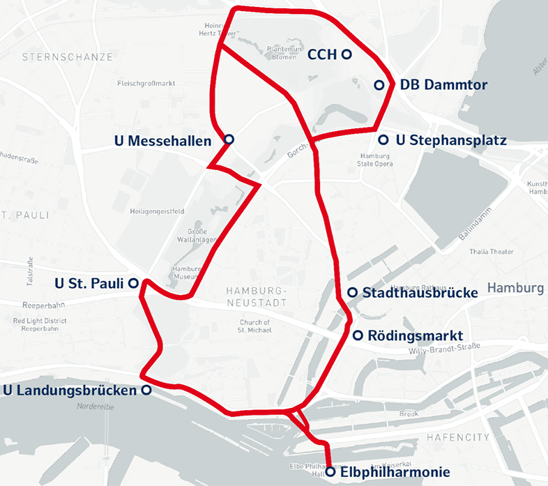 TAVF-Streckenkarte